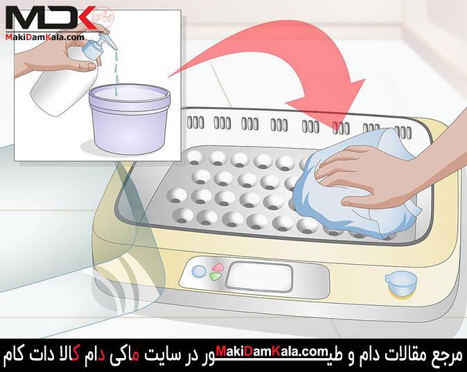 تمیز کردن دستگاه جوجه کشی در خرید دستگاه جوجه کشی در استفاده از دستگاه جوجه کشی
