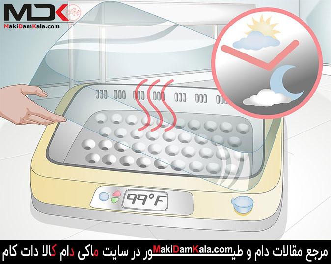 در استفاده از دستگاه جوجه کشی دمای دستگاه را چک کنید